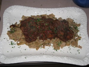 Boeuf Bourguignon with Egg Noodles